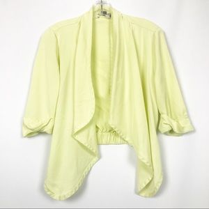 Premise Studio Pale Yellow Open Front Cardigan